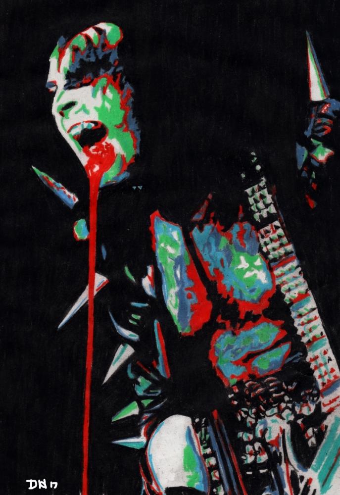 Gene Simmons by DHWallArtist